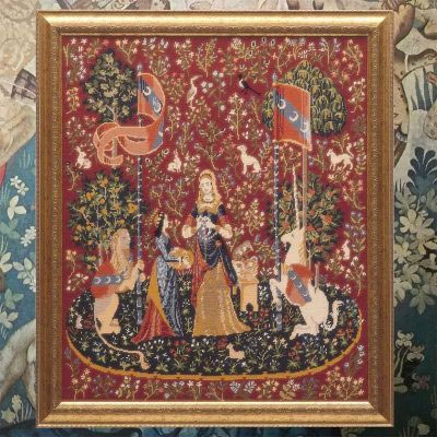The Lady with the Unicorn Wallhanging