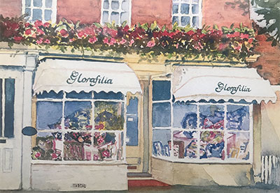 Painting of the shop exterior