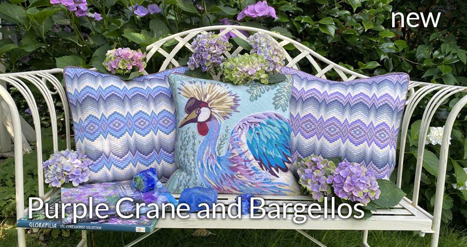 Purple Crane and Bargellos